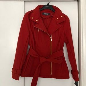 NWT Kenneth Cole Red Jacket with Zip-out Hood
